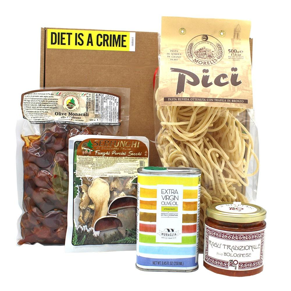 Italiaans pakket met pasta